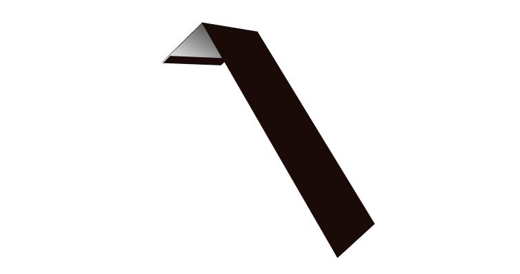 Планка лобовая/околооконная простая 190х50 0,45 PE с пленкой RR 32 темно-коричневый