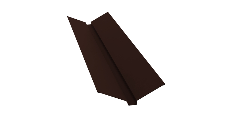 Планка ендовы верхней 115х30х115 0,5 Satin с пленкой RAL 8017 шоколад