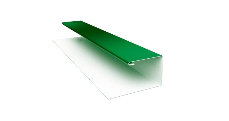 Планка П-образная 0,45 PE с пленкой RAL 6002 лиственно-зеленый