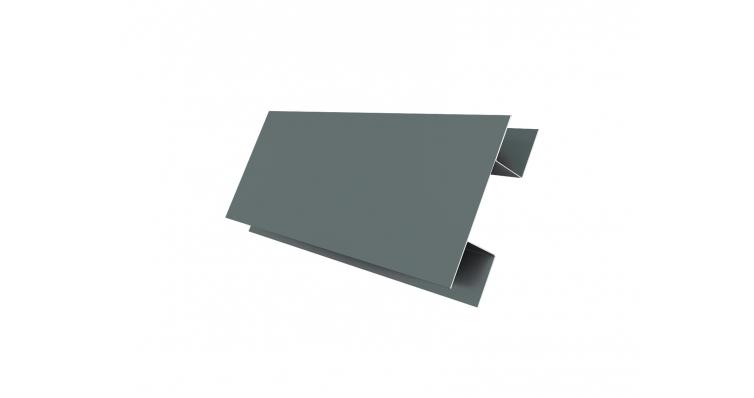 Планка H-образная 0,45 PE с пленкой RAL 7005 мышино-серый