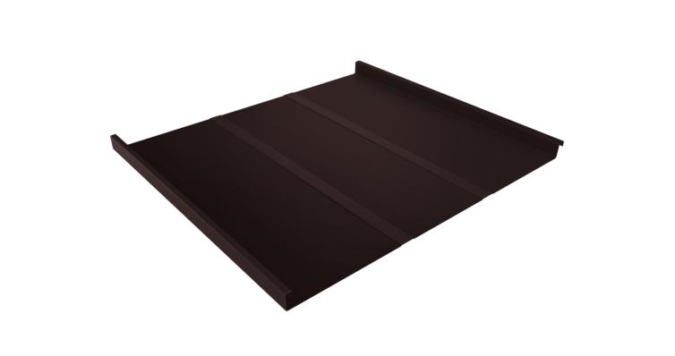 Фальц двойной стоячий Line 0,7 PE с пленкой на замках RAL 8017 шоколад