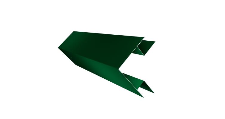 Угол внешний сложный 75х75 0,45 PE с пленкой RAL 6005 зеленый мох