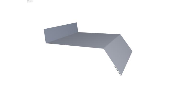Отлив простой 150 0,45 PE с пленкой RAL 9006 бело-алюминиевый