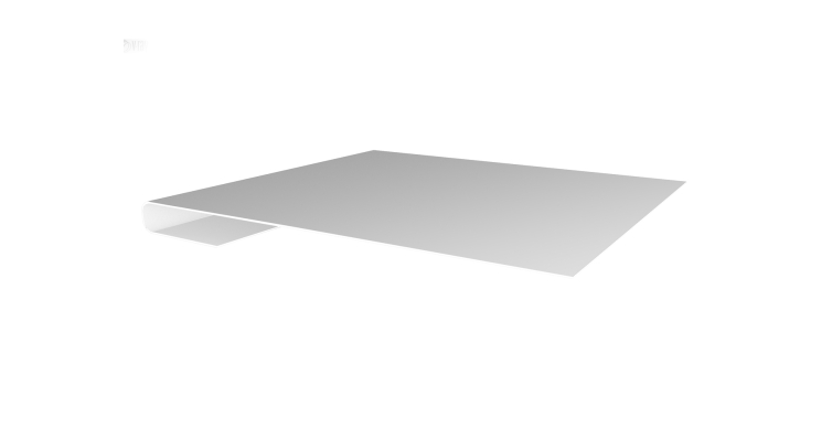 Планка завершающая 0,5 Satin с пленкой RAL 9003 сигнальный белый