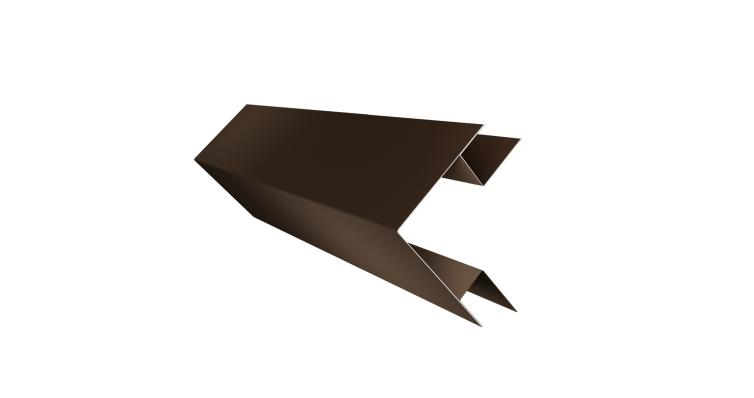 Угол внешний сложный 75х75 0,5 Quarzit с пленкой RR 32 темно-коричневый