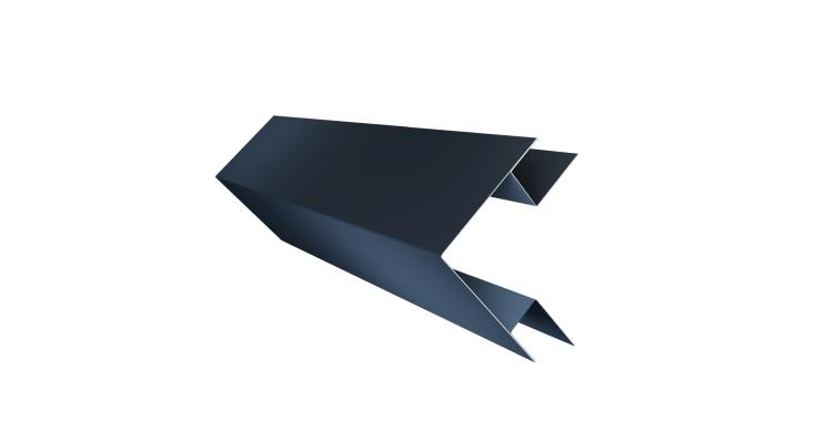 Угол внешний сложный 75х75 0,45 PE с пленкой RAL 7024 мокрый асфальт