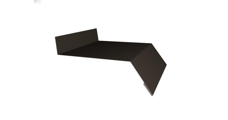 Отлив простой 150 0,5 Quarzit с пленкой RR 32 темно-коричневый