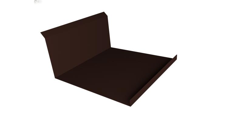 Планка примыкания нижняя 20х122х260х15 0,5 Satin с пленкой RAL 8017 шоколад