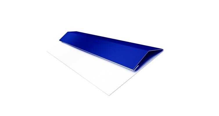 Планка стартово-финишная (Блок-хаус, Экобрус) Grand Line 0,45 PE с пленкой RAL 5002 ультрамариново-синий