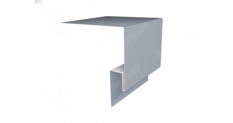 Планка околооконная сложная 200х50х18 (j-фаска) 0,45 PE с пленкой RAL 9006 бело-алюминиевый