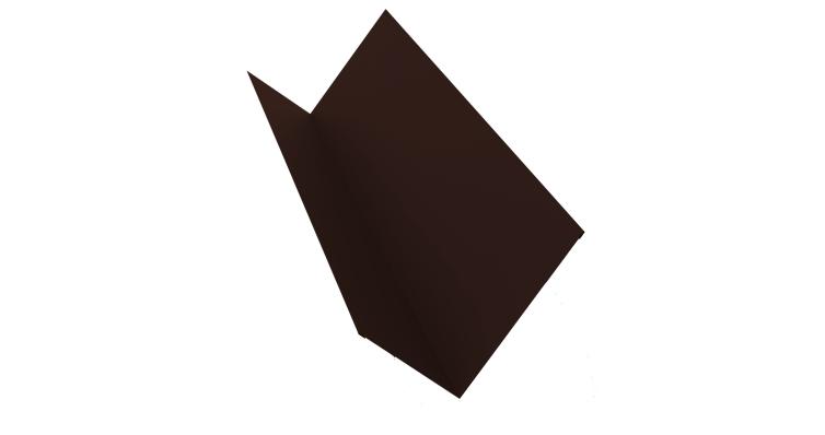Планка примыкания 150х250 0,4 PE с пленкой RAL 8017 шоколад