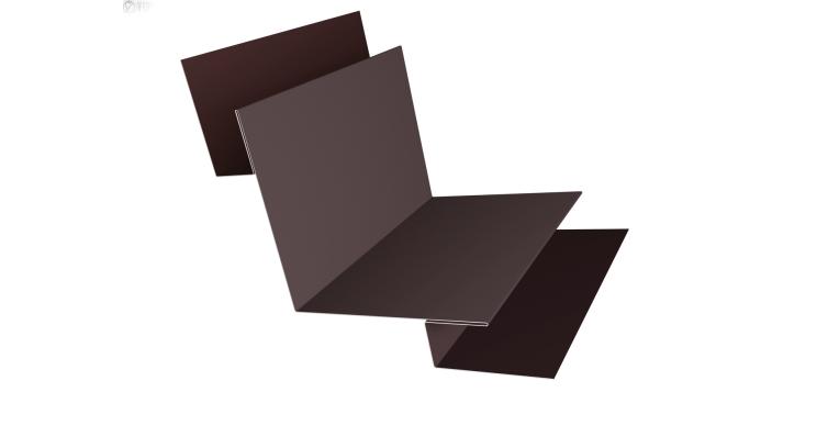 Угол внутренний сложный 90 0,45 PE с пленкой RAL 8017 шоколад