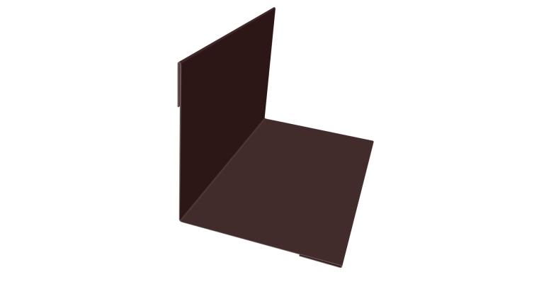 Угол внутренний 110х110 0,45 PE с пленкой RAL 8017 шоколад