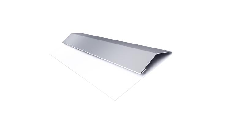 Планка стартово-финишная (Блок-хаус, Экобрус) Grand Line 0,45 PE с пленкой RAL 9006 бело-алюминиевый