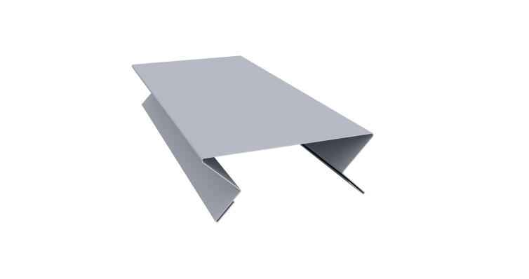 Планка угла внутреннего составная верхняя 0,45 PE с пленкой RAL 9006 бело-алюминиевый
