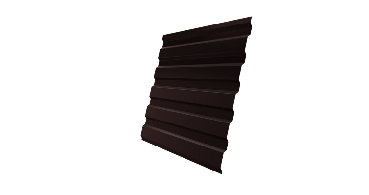 Профнастил С20А 0,45 PE-Double с пленкой RAL 8017 шоколад