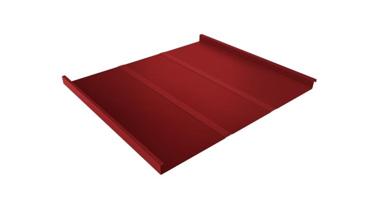 Фальц двойной стоячий Line 0,45 PE с пленкой на замках RAL 3003 рубиново-красный