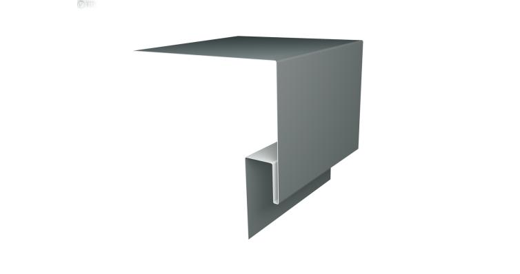 Планка околооконная сложная 200х75х18 (j-фаска) 0,45 PE с пленкой RAL 7005 мышино-серый