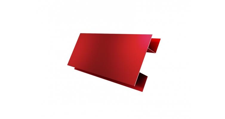 Планка H-образная 0,45 PE с пленкой RAL 3011 коричнево-красный