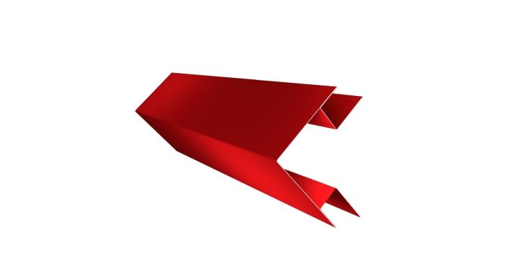 Угол внешний сложный 75х75 0,45 PE с пленкой RAL 3003 рубиново-красный