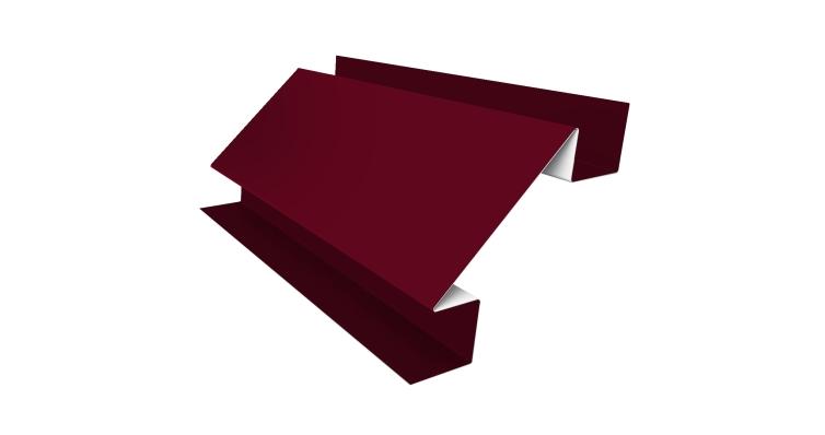 Угол внутренний сложный 75мм 0,45 PE с пленкой RAL 3003 рубиново-красный
