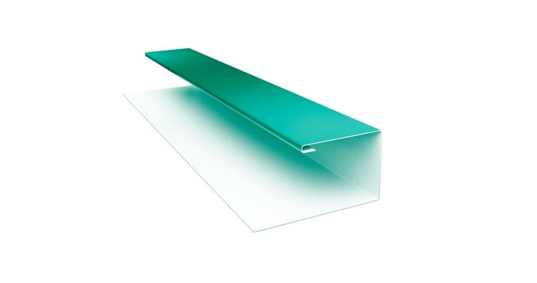 Планка П-образная 0,45 PE с пленкой RAL 5021 водная синь