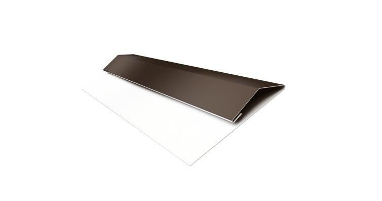 Планка стартово-финишная (Блок-хаус, Экобрус) Grand Line 0,45 PE с пленкой RR 32 темно-коричневый