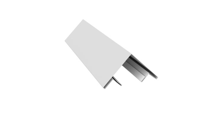 Планка угла внешнего составная верхняя 0,45 PE с пленкой RAL 9003 сигнальный белый