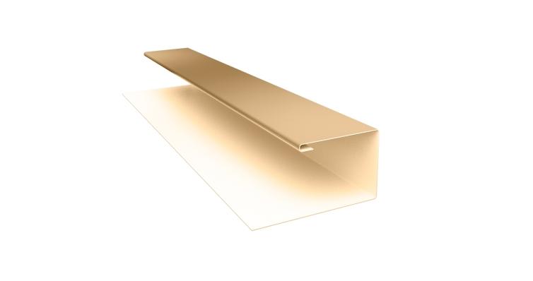 Планка П-образная (Блок-хаус, Экобрус) Grand Line 0,45 PE с пленкой RAL 1014 слоновая кость