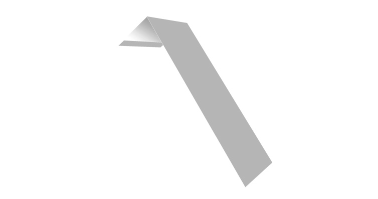 Планка лобовая/околооконная простая 190х50 0,45 PE с пленкой RAL 9003 сигнальный белый