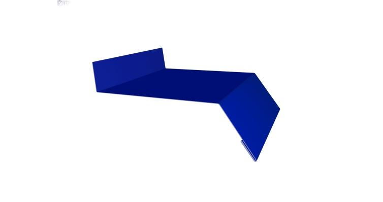 Отлив простой 150 0,45 PE с пленкой RAL 5002 ультрамариново-синий