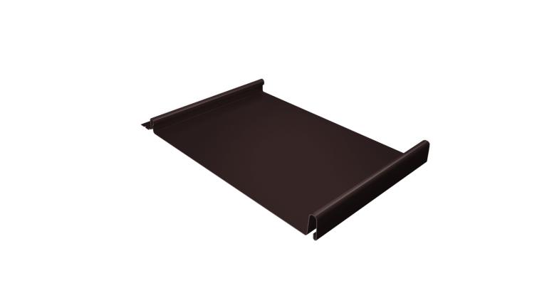 Кликфальц Grand Line 0,5 Velur20 с пленкой на замках RAL 8017 шоколад
