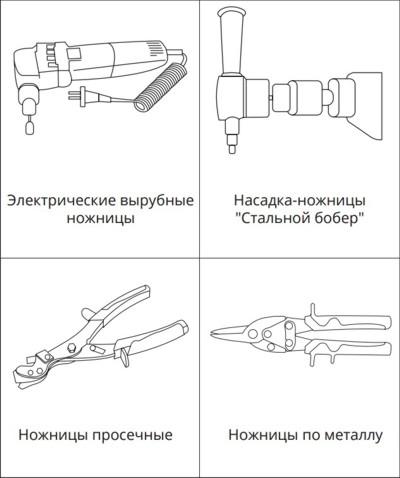 Инструменты для монтажа черепицы