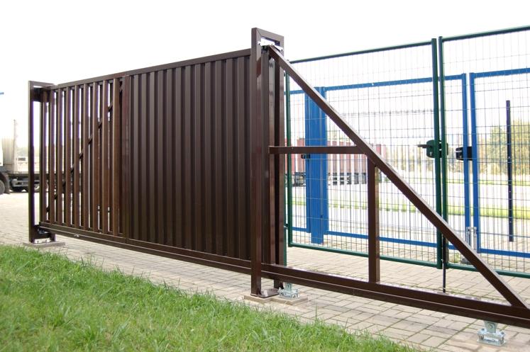 Откатные ворота Эконом
