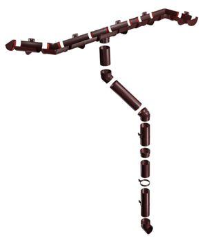 Пластиковый водосток шоколадный