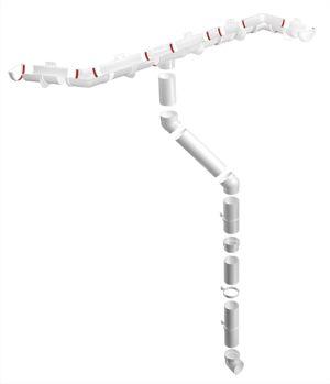 Пластиковый водосток белый